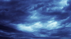 Cloudscape time lapse. Blue and orange. 2 videos in one file. Clouds passing by. - stock footage