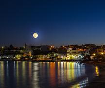 Makrigialos in moonlight - stock photo