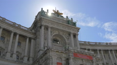View of a part of Neue Burg in Vienna Stock Footage