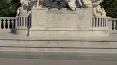 Mozart monument in Burggarten, Vienna Stock Footage