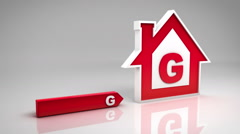 Energy efficiency rating chart. From red (G) to green (A). Alpha matte. Stock Footage