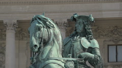 The equestrian statue of Prince Eugene of Savoy, Vienna Stock Footage