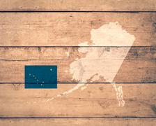 map of Alaska - stock illustration