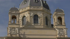 The Museum of Natural History's dome and cupolas in Vienna Stock Footage
