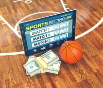 Stock Illustration of concept of online sport bets