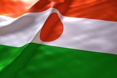 Niger flag background - stock illustration