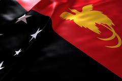 Papua New Guinea flag background Stock Illustration