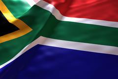 South Africa flag background Stock Illustration