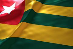 Togo flag background Stock Illustration