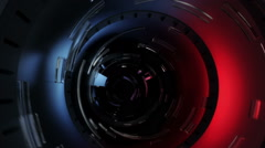 News broadcast titles. Noticias, clima, mundo. Red. 3 in 1. Spanish version. Stock Footage
