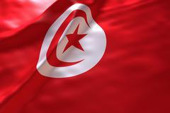 Tunisia flag background Stock Illustration