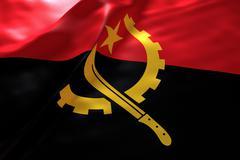 Angola flag background - stock illustration