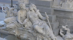 Details of the Pallas-Athena-Brunnen, Vienna - stock footage
