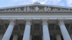 Beautiful facade of Austrian Parliament Building, Vienna Stock Footage