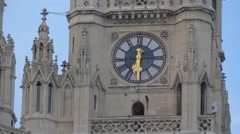 Clock on the main tower of the Town Hall, Vienna Stock Footage