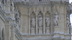 Statues on the Town Hall, Vienna Stock Footage