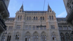 View of the Town Hall of Vienna Stock Footage
