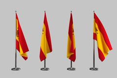 Spain indoor flags isolate on white background Stock Illustration