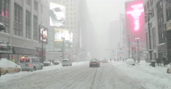 Snow Blizzard Extreme Weather in Manhattan New York 4K Stock Video Stock Footage