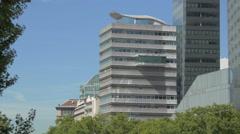 Media Tower seen from Aspernbrucke bridge in Vienna Stock Footage