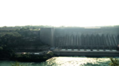 Electric Power Plant Dam Stock Footage