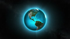Spinning Hiperrealistic Earth with glow. Loopable. Stock Footage