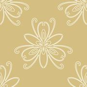 Floral Fine Seamless Vector Pattern Stock Illustration