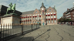 Old City hall - Altes Rathaus - Dusseldorf, Germany Stock Footage
