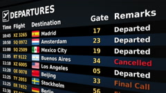 Airport departure board. Black and Blue. 2 in 1. More options in my portfolio. Stock Footage