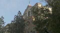 View of San Silvestro church and Sanctuary of Santa Maria Maggiore in Trieste Stock Footage