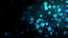Star Background. Cyan. Loopable. 2 options with and without mask. - stock footage
