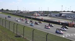 4k Sidecar motorsports racing Germany start scene Stock Footage