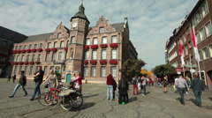 Old city hall in Dusseldorf - Germany Stock Footage