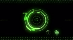 Stock Video Footage of Digital Hud. Green. Computer interface to compose using modes. Loopable.