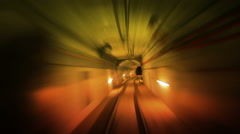 Journey through a tunnel. Loopable. Real. Amber. More colors in my portfolio. Stock Footage