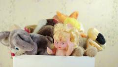 Old children's toys Stock Footage