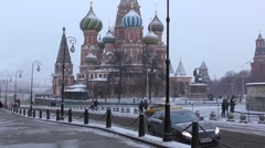 View of Saint Basil's Cathedral Stock Footage