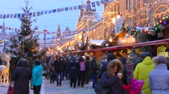 GUM fair on Red Square. Moscow Stock Footage