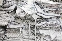Close up of folded hospital gowns Stock Photos