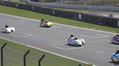 4k Sidecar motorsports racing line-up Germany Stock Footage