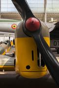 Close up of propeller on antique airplane in hangar Kuvituskuvat