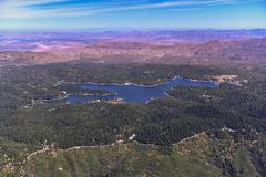 Aerial view of Lake Arrowhead, California, United States Stock Photos