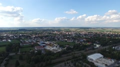 Aerial view of  Germany landscape Stock Footage