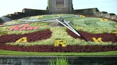 Flower Clock In Niagara Falls Stock Footage