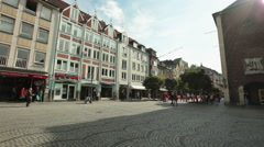 Dusseldorf - Germany, old city at sunny summer day Stock Footage
