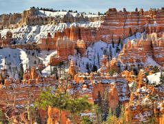 Wintertime in Bryce Canyon - stock photo