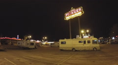 Recreational Vehicle Campers In Casino Parking Lot- Laughlin NV Stock Footage