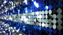 Sequins reflective background. Blue and White. 3 videos in 1 file. Loopable. - stock footage