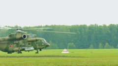 Helicopter Mil-171 take-off Stock Footage
