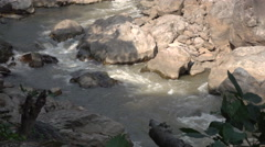 Mountain River in Ob Luang National Park Stock Footage